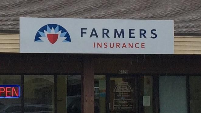 Farmers Johnson building sign