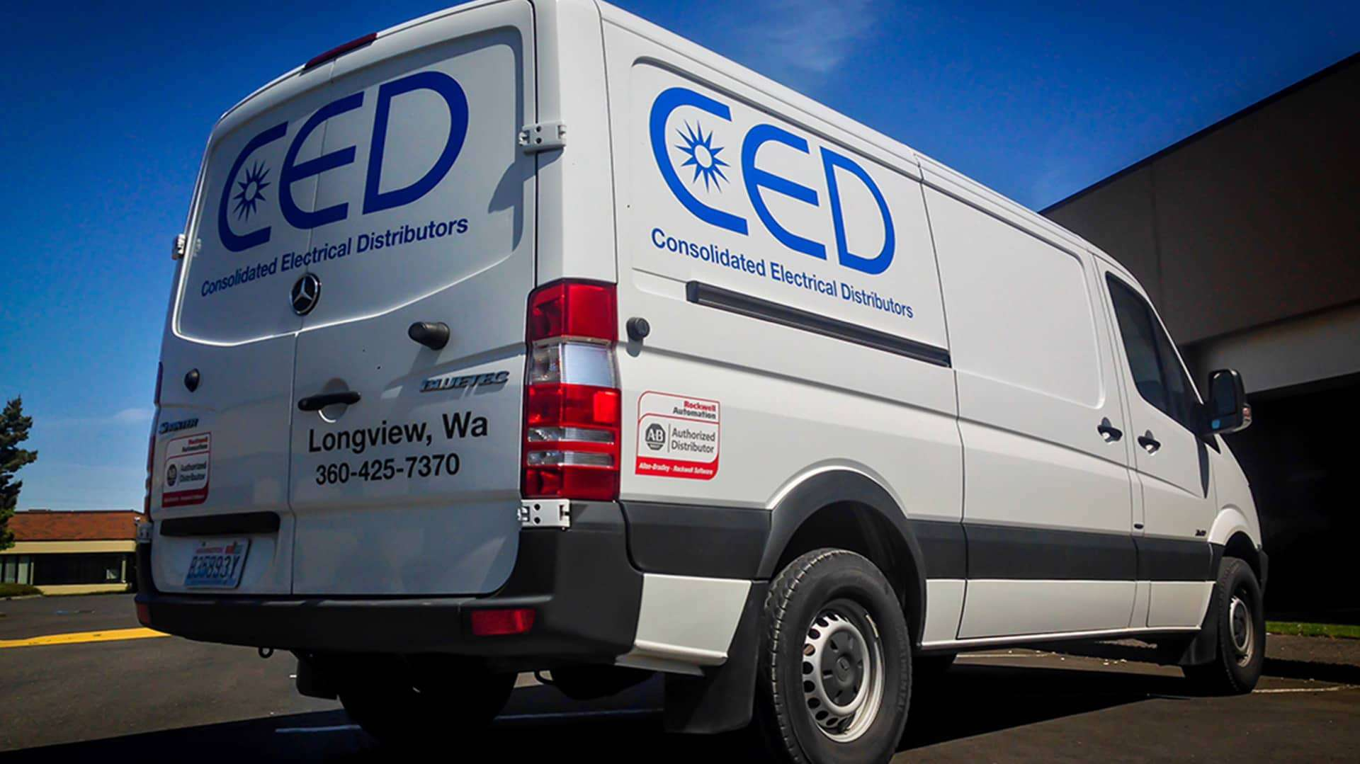 Fleet Graphics for CED on a Mercedes Sprinter