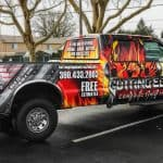 Full Wrap Fleet Graphics for Cutting Edge Contracting on a Ford F350