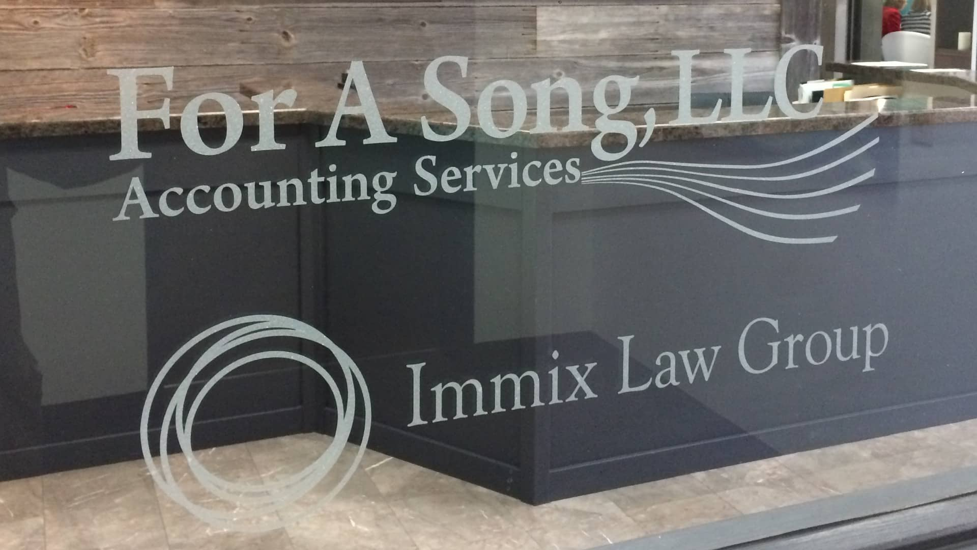 frosted vinyl window sign