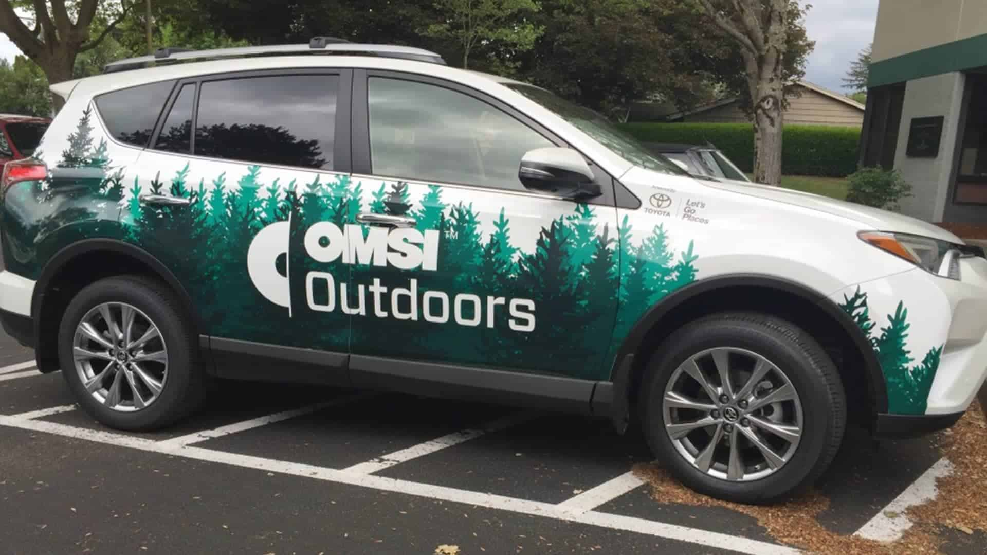 Toyota Omsi Outdoors Partial Vehicle Wrap – Vancouver Wa