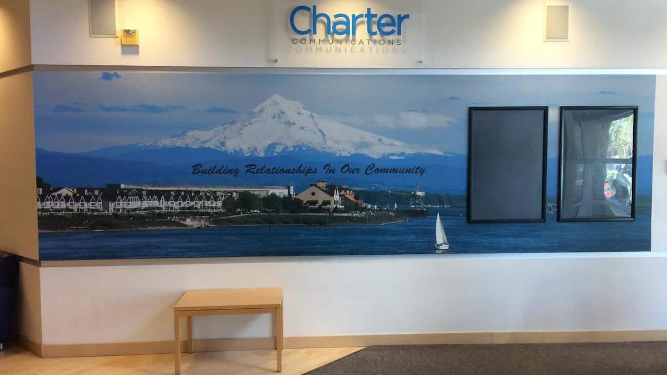 charter wall mural