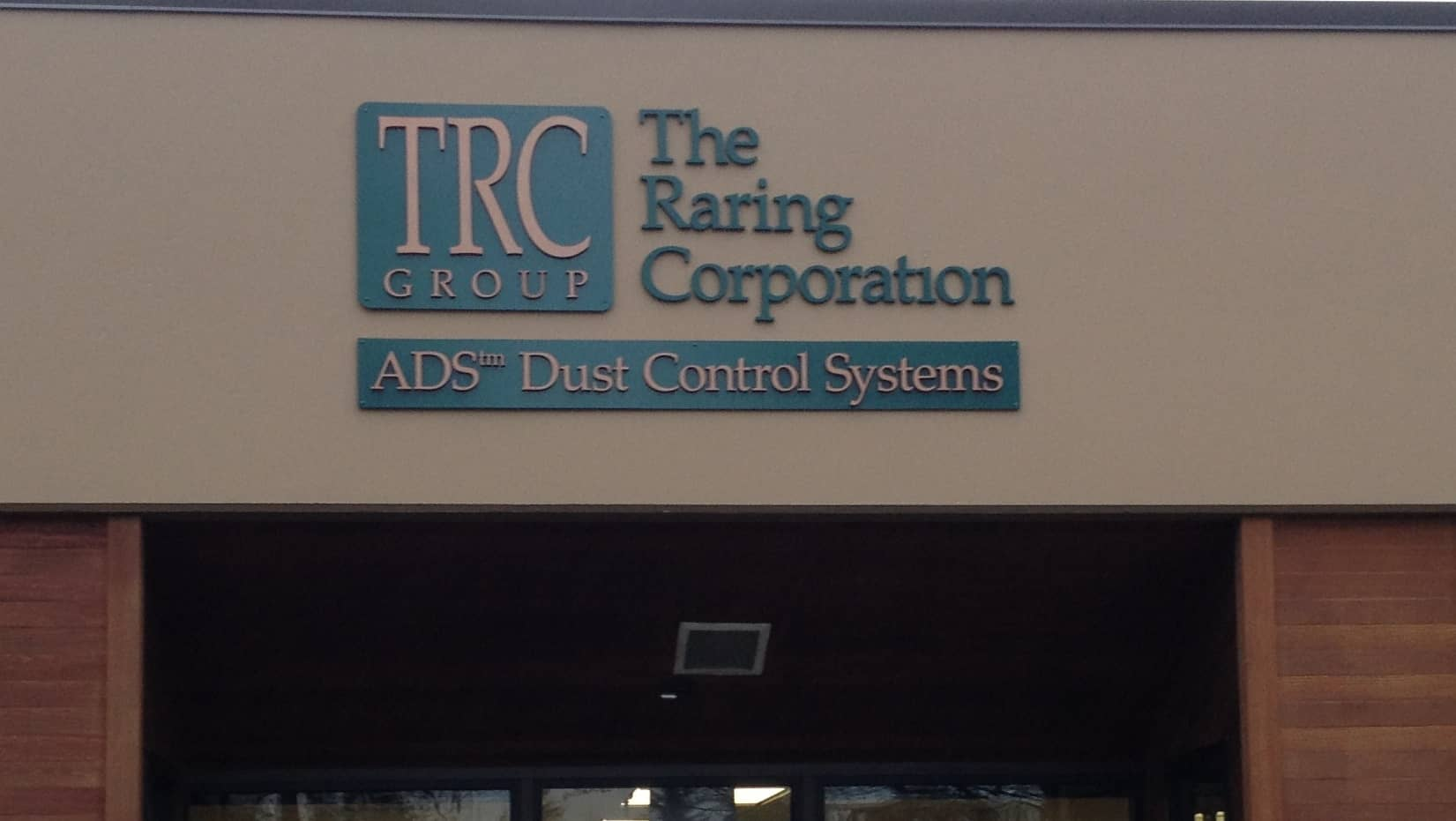 Raring Corp dimensional sign