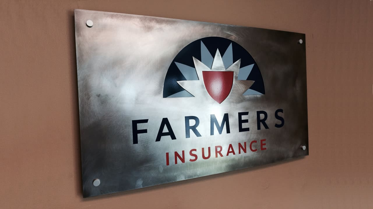 reclaimed recycled wall sign
