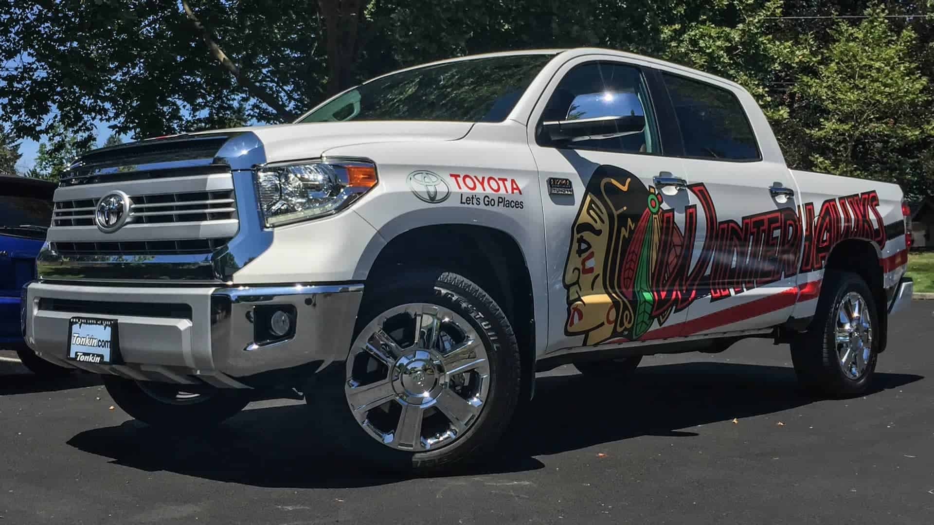 2016 Toyota Tundra Vehicle graphics for the Portland Winterhawks