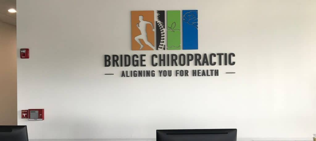 Bridge Chiropractic business lobby sign