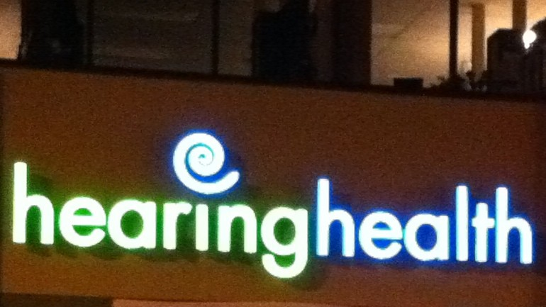 lighted building sign