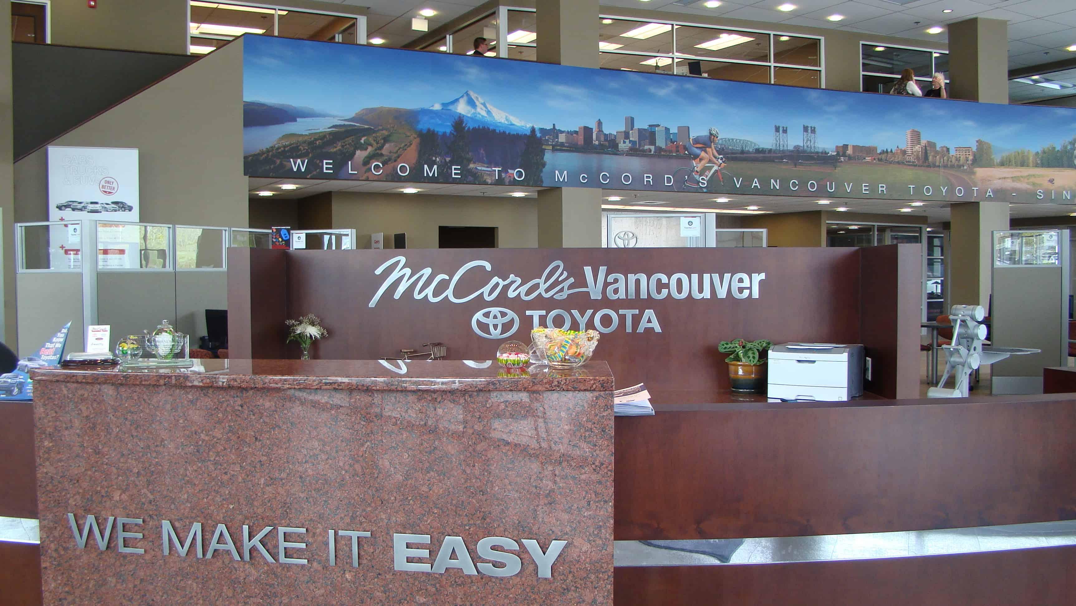 McCord Toyota Reclaimed Custom Lobby Sign