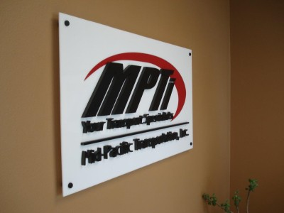 Mid Pacific Acrylic Lettering Sign Dimensional Signs