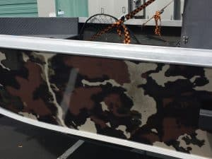 camo boat detail