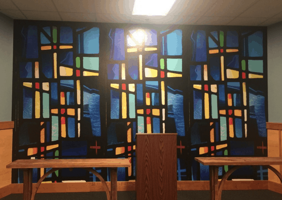 stained glass commercial wallcoverings